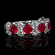 1.75ct Diamond and Ruby 18k White Gold Ring