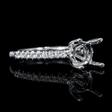 .25ct Diamond 18k White Gold Engagement Ring Setting