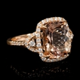 .58ct Diamond Morganite 18k Rose Gold Ring