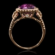 .53ct Diamond and Purple Amethyst 18k White Gold Ring