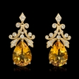 .64ct Diamond and Citrine 18k Yellow Gold Dangle Earrings