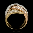 3.75ct Diamond 18k White and Rose Gold Ring