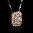.83ct Diamond 18k Rose Gold Pendant Necklace