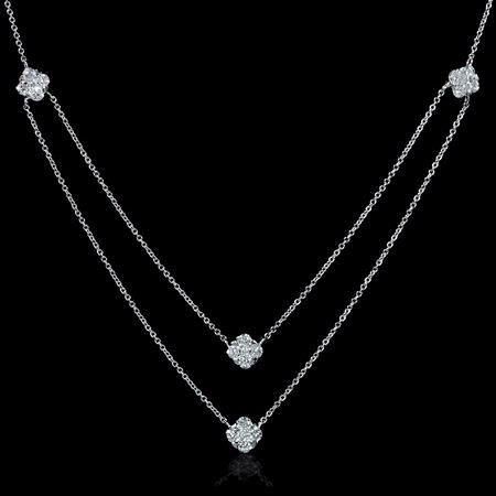 .68ct Diamond 18k White Gold Necklace