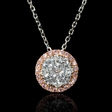 .52ct Diamond 18k Two Tone Gold Pendant Necklace