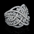 3.56ct Diamond 18k White Gold Ring