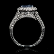 .95ct Diamond and Blue Sapphire 18k White Gold Ring