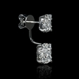 2.31ct Diamond 18k White Gold Dangle Earrings