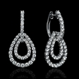 3.71ct Diamond 18k White Gold Dangle Earrings