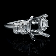 .81ct Diamond 18k White Gold Engagement Ring Setting