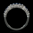 .24ct Diamond and Blue Sapphire 18k White Gold Ring