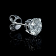 10.07ct Diamond 18k White Gold Stud Earrings
