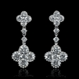2.25cts Diamond 18k White Gold Dangle Earrings