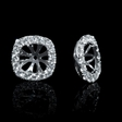 .80ct Diamond 18k White Gold Earring Jackets