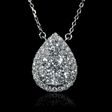 1.26cts Diamond 18k White Gold Pendant Necklace