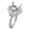 1.46ct Diamond Platinum Halo Engagement Ring Setting