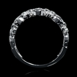 .35ct Diamond Antique Style 18k White Gold Wedding Band Ring