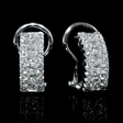 .61ct Diamond 18k White Gold Huggie Earrings