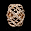 4.95cts Diamond 18k Rose Gold Ring