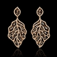 4.83cts Diamond 18k Rose Gold Dangle Earrings