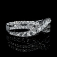 .88ct Diamond 18k White Gold Wedding Band Ring