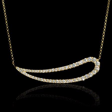 Diamond 18k Yellow Gold Pendant Necklace