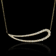 1.00ct Diamond 18k Yellow Gold Pendant Necklace