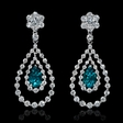 2.59cts Diamond 18k White Gold Dangle Earrings