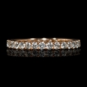 Diamond 18k Rose Gold Eternity Wedding Band Ring