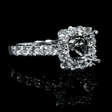 .99ct Diamond 18k White Gold Halo Engagement Ring Setting