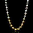 Ombre South Sea Pearl 14k White Gold Necklace