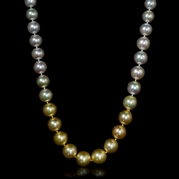 Ombre South Sea Pearl 18k White Gold Necklace