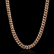 Diamond 14k Rose Gold Necklace