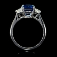 .84ct Diamond and Ceylon Blue Sapphire 18k White Gold Ring