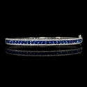 Diamond and Blue Sapphire 18k White Gold Bracelet
