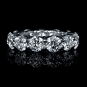 Diamond Platinum Eternity Wedding Band Ring