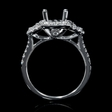 .84ct Diamond 18k White Gold Halo Engagement Ring Setting