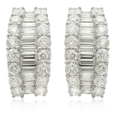 5.86ct Diamond 18k White Gold Earrings