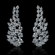 1.71cts Diamond 18k White Gold Dangle Earrings