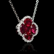 .11ct Diamond and Ruby 18k White Gold Pendant Necklace