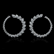 3.15cts Diamond 18k White Gold Dangle Earrings
