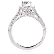 .56ct Diamond Antique Style Platinum Engagement Ring Mounting