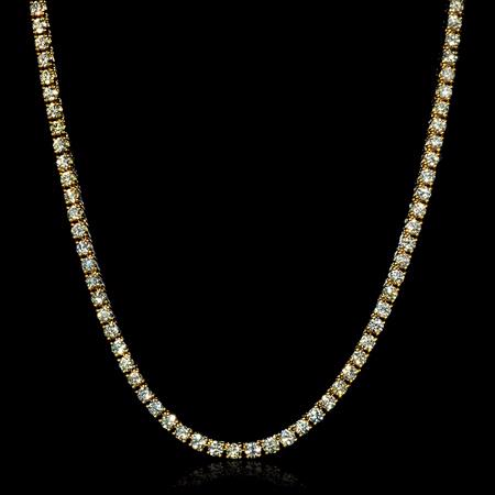 25.69cts Diamond 14k Yellow Gold Necklace