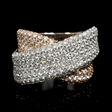 3.10cts Diamond 18k White and Rose Gold Ring