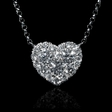 .60ct Diamond 18k White Gold Pendant Necklace