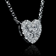 .35ct Diamond 18k White Gold Pendant Necklace