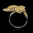 2.23cts Diamond 18k White and Yellow Gold Butterfly Ring