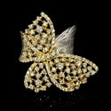 Diamond 18k Two Tone Gold Butterfly Ring