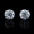 4.91ct Diamond 14k White Gold Stud Earrings