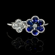.30ct Diamond and Blue Sapphire 18k White Gold Ring